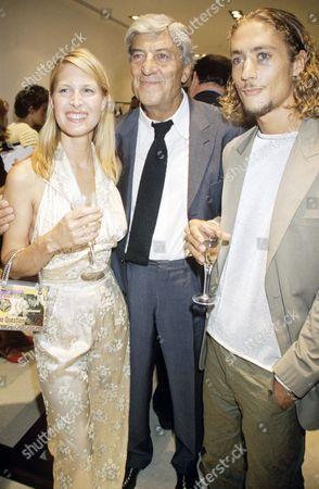 Nino Cerruti and Julianne Davis