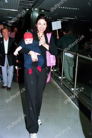 Luciana Gimenez Morad with baby son Lucas