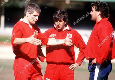Finlay Calder Ian McGeechan and Mike Teague (Lions) British Lions Tour of Australia 1989 Australia