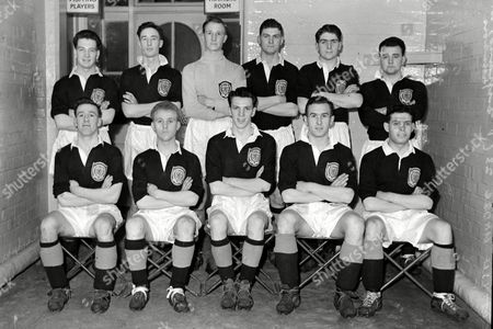 Scotland Under 23 team Back row : L to R Alex Parker (Falkirk) Ian Rae Reg Morrison (Aberdeen) William Price (Airdrie) Ian McNicol (Hibernian) Jim Macintosh (Falkirk) Front Row : John Hamilton (Hearts) Alex Young Max Murray (Rangers) Bob Wishart (Aberdeen) Tom Baxter (Queen of the South) 08/02/1958 England U'23 v Scotland U'23 at Hillsbrough England U23 v Scotland U23