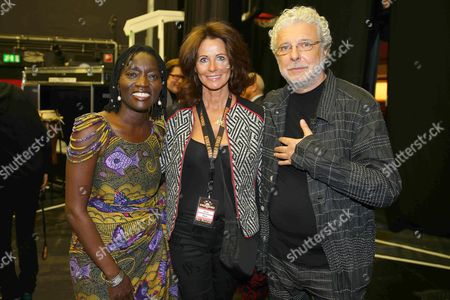 Auma Obama, Guest and Andre Heller