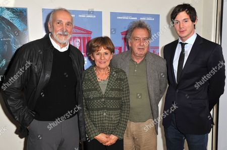 Stock Picture of Frank Langella, Shawn Slovo, Stephen Frears and Benjamin Walker