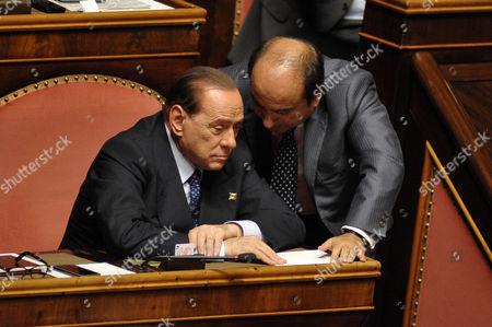 Stock Image of Silvio Berlusconi, Domenico Scilipoti