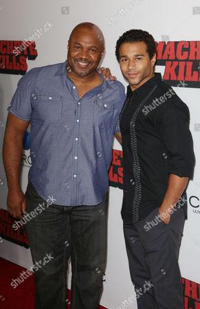 Corbin Bleu and father David Reivers
