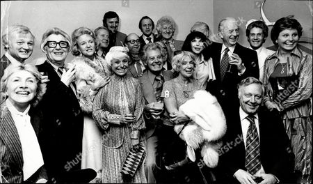 The Variety Club Of Great Brittain Danny La Rue Tribute Luncheon Left To Right Hannah Gordon John Inman Unknown Moira Lister Unkown Jimmy Hill Barbara Windsor Jimmy Jewell Danny La Rue David Jacobs John Pertwee Unknown Fenella Fielding Unknown Unknown Michael Barratt And Angela Rippon.