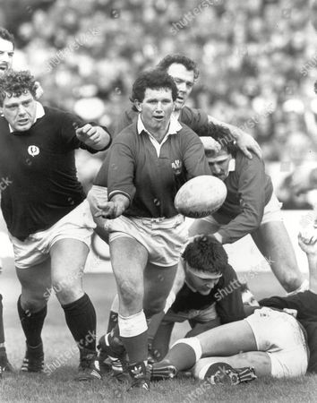 Stock Image of Billy James - Wales Scotland v Wales at Murrayfield 21/3/87 Great Britain Edinburgh 5 Nations Championship