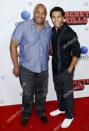 Stock Picture of Corbin Bleu and father David Reivers