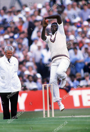 Joel Garner (West Indies) England v West Indies 1984 Texaco Trophy 31/05/1984 Cricket 1-D Eng lost to West Indies 104r (OT)