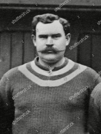 Stock Picture of William (Billy) George (Aston Villa goalkeeper) with moustache 1909/10 League Champions Billy George (Aston Villa)