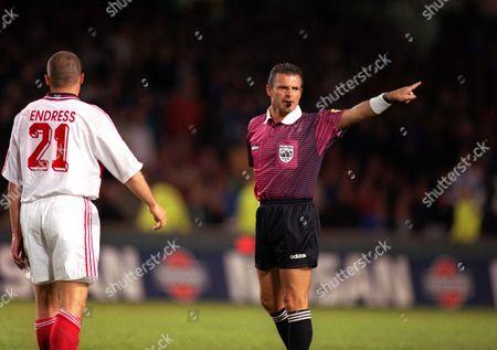 Stefano Braschi (Referee) Chelsea v Stuttgart European Cup Winners Cup Final 1998 at Stockholm 13/5/1998 1998 Cup Winners Final: Chelsea 1 Stuttgart 0
