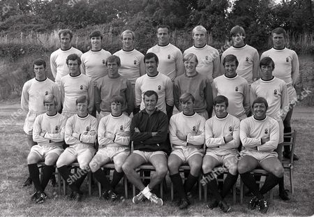 Football - 1969 / 1970 season - Coventry City Team Group Back (left to right): Brian Hill Ernie Hannigan Maurice Setters George Curtis Dave Clements Trevor Gould Dietmar Bruck Centre: Neil Martin Jeff Blockley Bill Glazier Tony Hateley Eric McManus C Cattlin Mick Coop Front: Graham Paddon Willie Carr Ian Gibson Noel Cantwell Ernie Machin Gerry Baker Ernie Hunt Coventry City - 1969/70