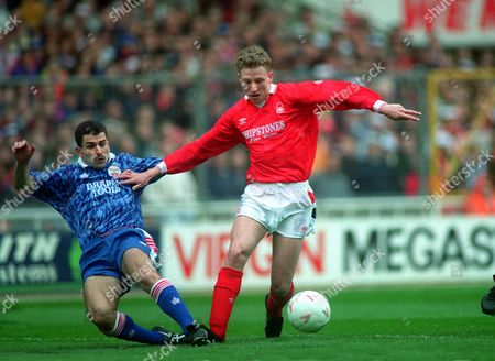 Scott Gemmill (Forest) Francis Benali (Sot'n) Nottingham Forest v Southampton Zenith data Cup Final 1992 Wembley 29/3/92 Zenith Final: N Forest 3 Southampton 2