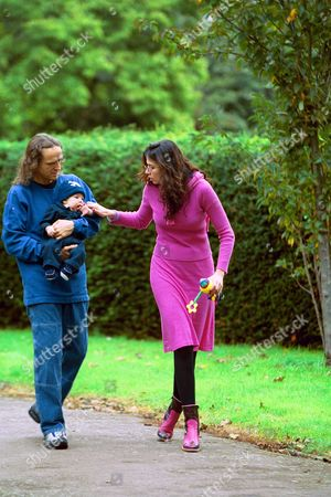 Editorial photo of LUCIANA MORAD WITH BABY LUCAS AND PETER WATSON