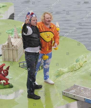 Keith Lemon takes to the famous 'This Morning' weather map as they return to film in Liverpool for the shows 25th birthday