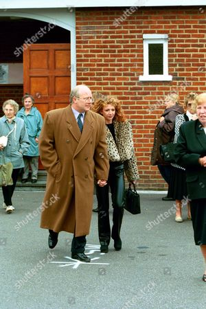 Editorial picture of BONNIE LANGFORD AT THE FUNERAL OF LENA ZAVARONI.