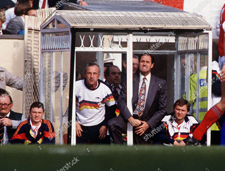 George Graham (Arsenal Manager) and Theo Foley (coach) Arsenal v Chelsea 17 / 3 /90 Arsenal 0 Chelsea 1