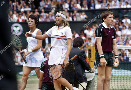 Andrea Jaeger celebrates her victory over Billie Jean King (USA) WIMBLEDON TENNIS CHAMPIONSHIPS 1983