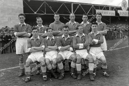 Football - 1954 British Home Championship - Wales 1 Northern Ireland 2 The Wales team group before the game at the Racecourse Ground Wrexham on the 31/3/54 Back (left to right): Ray Daniel Alf Sherwood A Jack Kelsey Ron Burgess Roy Paul Derrick Sullivan Front: Bill Foulkes Noel Kinsey John Charles vor Allchurch Roy Clarke This Home Championship also served as qualification for the 1954 World Cup Wales 1 Northern Ireland 2