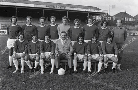 Football - 1972 / 1973 season - Wigan Athletic Team Group Photocall Back (left to right): Joe Fletcher Billy Sutherland Ken Morris Albert Jackson Dennis Reeves Tommy Aspinall John King Paul Gregory Ken Banks (trainer) Front: Colin Chadwick Graham Oates Ian Gillibrand Les Rigby (manager) Lee Koo Micky Worswick Micky Taylor Wigan Athletic - 1972/73