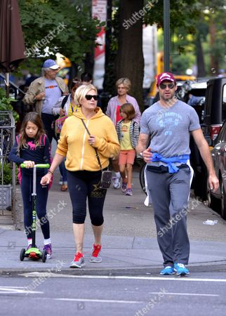 Stock Picture of Ava Eliot Jackman, Deborra-Lee Furness and Hugh Jackman