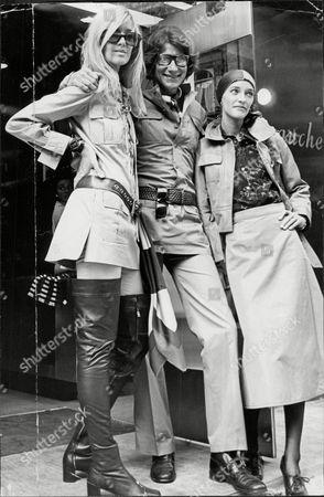 Fashion Designer Yves Saint Laurent With Friends Betty Catroux (left ) And Louise De La Falise.