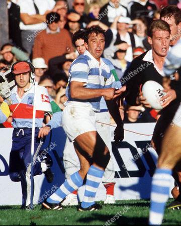 Hugo Porta (Argentina) New Zealand v Argentina; Pool 3; Athletic Park Wellington1987 Rugby World Cup in NZ & Australia07/06/1987 RWC1987 Pool 3: NZ 46 Argentina 15