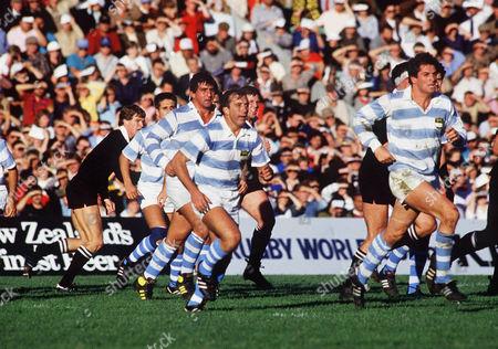 Hugo Porta (Argentina) New Zealand v Argentina; Pool 3; Athl;etic Park Wellington1987 Rugby World Cup in NZ & Australia01/06/1987 RWC1987 Pool 3: NZ 46 Argentina 15