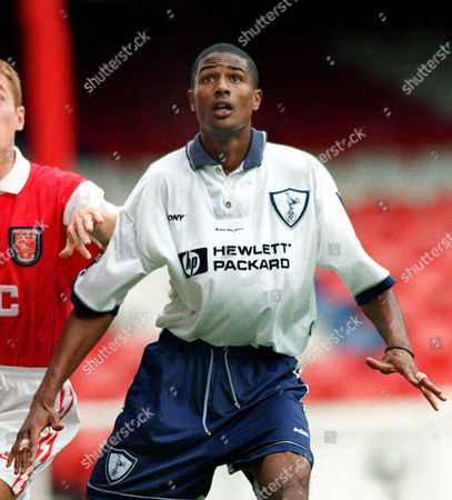 Stock Image of Steve Slade (Spurs) Arsenal v Tottenham Reserves 19/9/95 Arsenal Res v Spurs Res