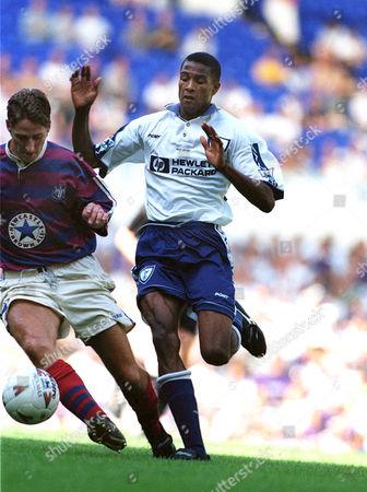 Steve Slade (Tott) Tottenham Hotspur v Newcastle United 12/8/95 Spurs v Newcastle Utd (Friendly)