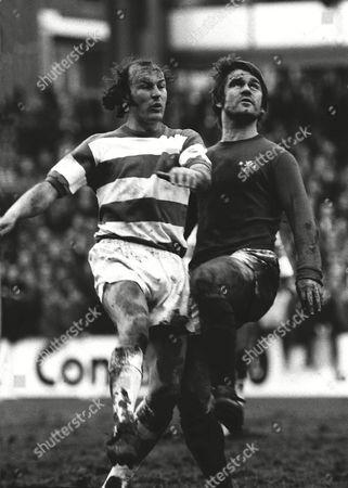 Terry Mancini (QPR) David Webb (Chelsea) Queens Park Rangers 15/1/74 F A Cup 3rd rd replay 1973 / 74 season FA Cup R3 Replay: QPR 1 Chelsea 0