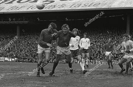 John Roberts and Rod Thomas (Wales) Wales v England 11/5/74 1974 Home Internationals Wales 0 England 2