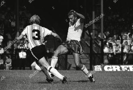 Martin Chivers (Norwich) and Peach (Southampton) Norwich City v Southampton 19/08/1978 Norwich 3 Southampton 1