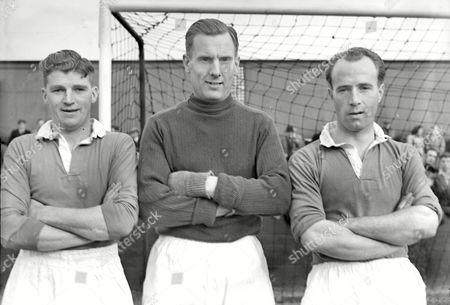 L to R Thomas Bell Eddie Clamp Vivien Aston (Oldham Athletic) 1949 / 50