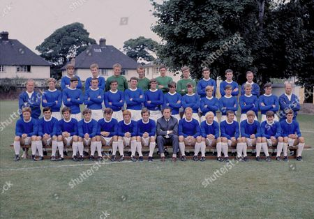 Football - Everton F C 1969 / 1970 - Full Squad Team Group Photocall Winners of the League Championship title this seasonBack row (left to right): H Bennett Joe Royle Gordon West Geoff Barnett A Clarke Andy Rankin B Jones David Johnson T Casey (trainer) Middle row: Wilf Dixon (trainer) T Hughes Mick Lyons F Darcy John Hurst Brian Labone Roger Kenyon Gary Jones Archie Styles M Westburgh D Turner Steve Seargeant Terry Darracott A Proudler (trainer) Front row: W Brindle Gerry Humphreys Jimmy Husband Tommy Jackson Tommy Wright Alan Ball Colin Harvey Harry Catterick (Manager) Sandy Brown Alan Whittle Johnny Morrissey Terry Owen Howard Kendall W Kenny Everton F.C. 1969-70