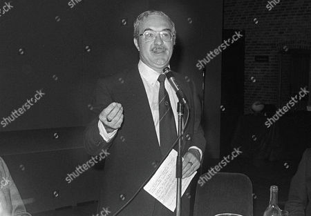Reg Gutteridge (ITV TV Boxing Commentator) with his 'after dinner speaking' Rugby World awards 24/6/1982 Reg Gutteridge