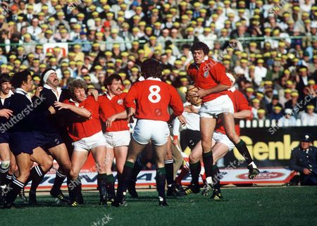 Allan Martin (Lions) Phil Orr and Graham Price Lions v Junior Springboks Johannesburg 18/06/1980 1980 British Lions Tour of South Africa Jnr Springboks 6 Lions 17 (J'burg)