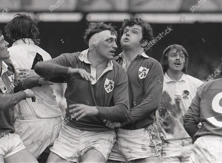 Rugby Union - 1972 Five Nations Championship - England 12 Ireland 16 Ireland's Willie John McBride and John Sean Lynch at Twickenham 1972 5N: England 12 Ireland 16