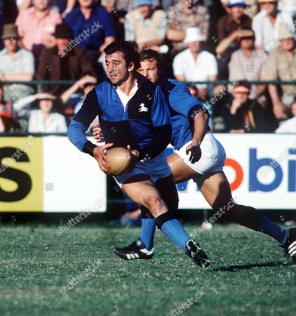 Hugo Porta (Barbarians and Argentina) Lions v South African Barbarians 02/07/1980 1980 British Lions Tour of South Africa SA Barbarians 14 Lions 25