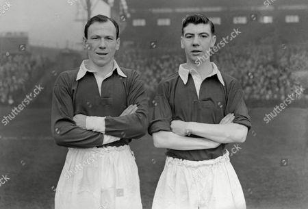 Football Norman Smith (left) and Johnny Haynes (Fulham)1952/1953 Season Smith & Haynes