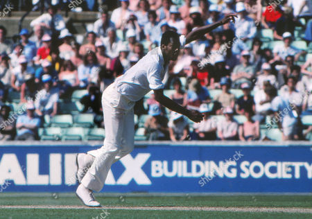 Colin Croft (lWest Indies) 4th test at The Oval England v West Indies 24 - 29/07/1980 England v West Indies Oval