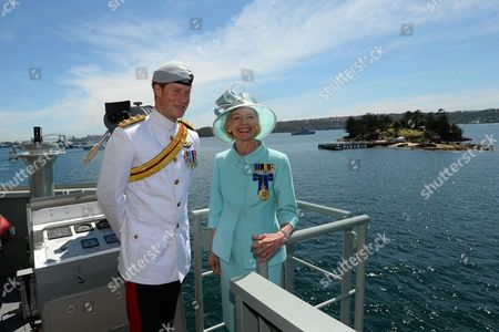Prince Harry and Quentin Bryce at Garden Island