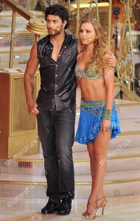 Stock Photo of Jesus Luz and dance partner Agnese Junkure
