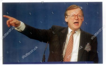 Editorial image of John Gummer Mp At The Conservative Party Conference In Bournemouth. John Selwyn Gummer Baron Deben. Conservative Party Politician Formerly Member Of Parliament (mp) For Suffolk Coastal Now A Member Of The House Of Lords. Pkt4706-331912 Original Print