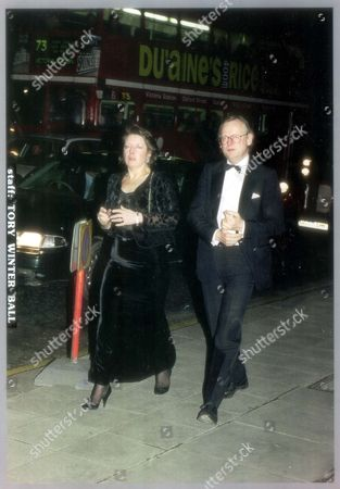 Stock Picture of John Gummer And Wife Arriving At Conservative Winter Ball. John Selwyn Gummer Baron Deben. Conservative Party Politician Formerly Member Of Parliament (mp) For Suffolk Coastal Now A Member Of The House Of Lords. Pkt4706-331934 Original Print Held In Kensington.