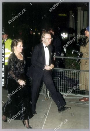 Editorial photo of John Gummer And Wife At The Conservative Winter Ball At Grosvenor House Hotel. John Selwyn Gummer Baron Deben. Conservative Party Politician Formerly Member Of Parliament (mp) For Suffolk Coastal Now A Member Of The House Of Lords. Pkt4706-331941 Ori