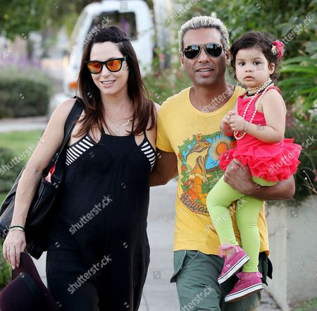 Erin Reese, Tony Kanal and daughter Coco Reese