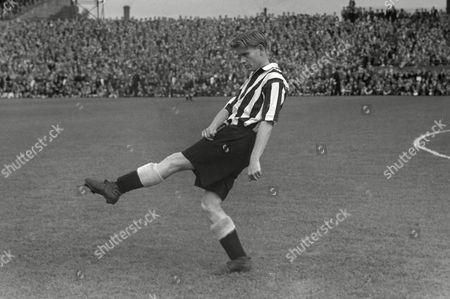 Charles 'Charlie' Crowe (Newcastle United) Preston North End v Newcastle United; 04/09/1954 PNE 3 Newcastle Utd 3