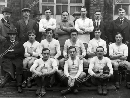 Football Port Vale Team Group 1920 / 1921 season Back row (left to right): R J Hughes (director) J Benton (trainer) Hocknell (director) T Lyons W Smith A Bourne R Purcell A Newton J Miller (director) Middle row : Schofield (secretary) Newman Thomas Page R Blood W Fitchford J Wotton Ground: J Brough P Purcell W Briscoe Port Vale - 1920/21