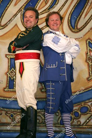 Hal Cruttenden as Dandini & Justin Fletcher as Buttons