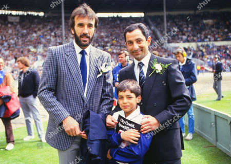 Ossie Ardiles with Son and Ricky Villa (Spurs) Tottenham Hotspur v Coventry City FA Cup Final 1987 Wembley 16/05/1987 FA Cup Final Tottenham Hotspur v Coventry City